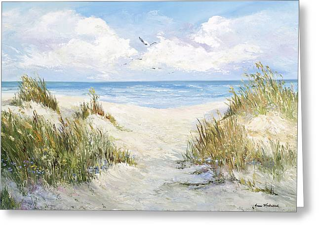 Sea Oats Greeting Cards - Memories Greeting Card by Jane Woodward