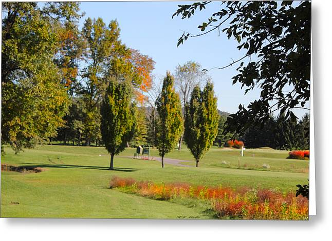 Beautiful Golf Course Greeting Cards - Memories of a Beautiful Golf Course1 Greeting Card by Heinz G Mielke