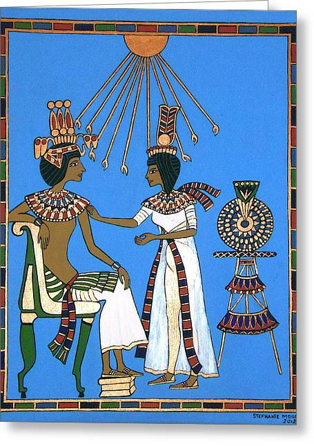 Memories Of Egypt Greeting Card by Stephanie Moore