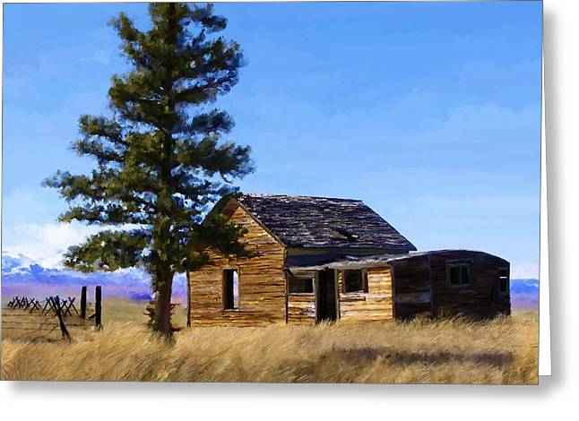 Montana Artist Greeting Cards - Memories of Montana Greeting Card by Susan Kinney