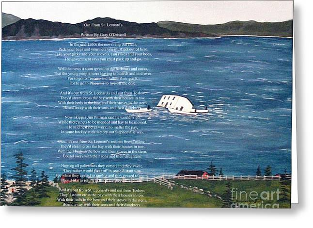 Packing Paintings Greeting Cards - Memories of Resettlement 1960s Greeting Card by Barbara Griffin