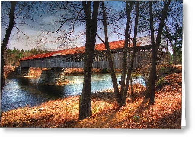 New England Covered Bridges Greeting Cards - Memories of Yesterday Greeting Card by Joann Vitali