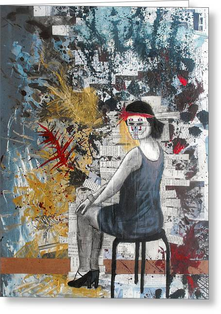 Pretty Girls Mixed Media Greeting Cards - Memory Of a Dream Greeting Card by Giorgio Russo