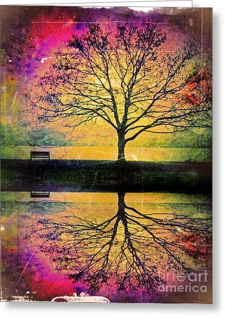 Fantasy Tree Art Greeting Cards - Memory Over Water Greeting Card by Tara Turner