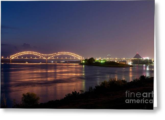 Mississippi Photographs Greeting Cards - Memphis Greeting Card by Miguel Celis