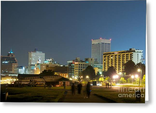 Miguel Greeting Cards - Memphis night Greeting Card by Miguel Celis