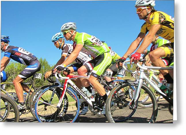 Tour Of The Gila Greeting Cards - Men Start on Day Two Greeting Card by Feva  Fotos