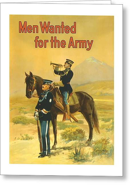 Ww1 Paintings Greeting Cards - Men Wanted For The Army Greeting Card by War Is Hell Store