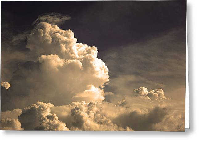 Monsoon Clouds Greeting Cards - Menacing Stormclouds Greeting Card by Anthony Citro