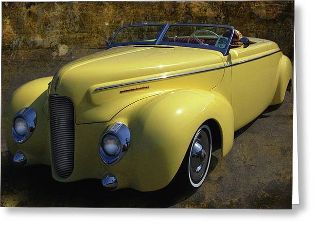 Mercury Hot Rod Greeting Cards - Merc Eight Roadster Greeting Card by Bill Dutting