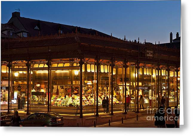 Beaux-arts Greeting Cards - Mercado de San Miguel Greeting Card by John Greim