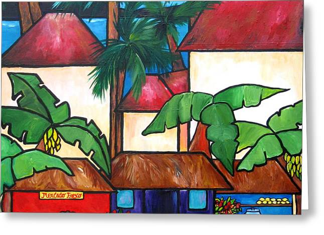 Mercado en Puerto Rico Greeting Card by Patti Schermerhorn