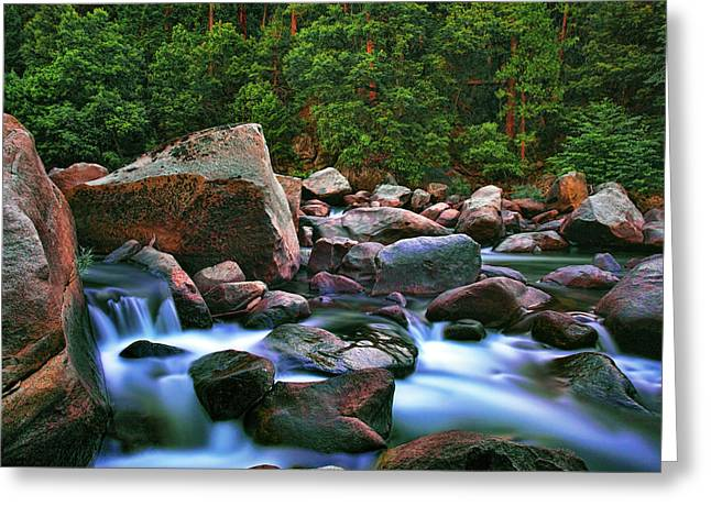 Waterfall Photography Greeting Cards - Merced Moraine Greeting Card by Rick Berk