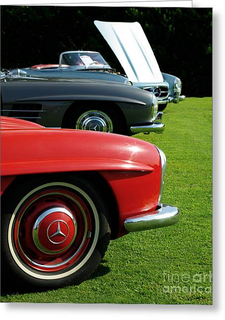 Hot Rod Greeting Cards - Mercedes 300 SL Greeting Card by Peter Piatt