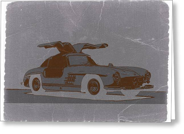 Mercedes Benz 300 Greeting Card by Naxart Studio