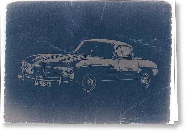 Gullwing Greeting Cards - Mercedes Benz 300 SL Greeting Card by Naxart Studio