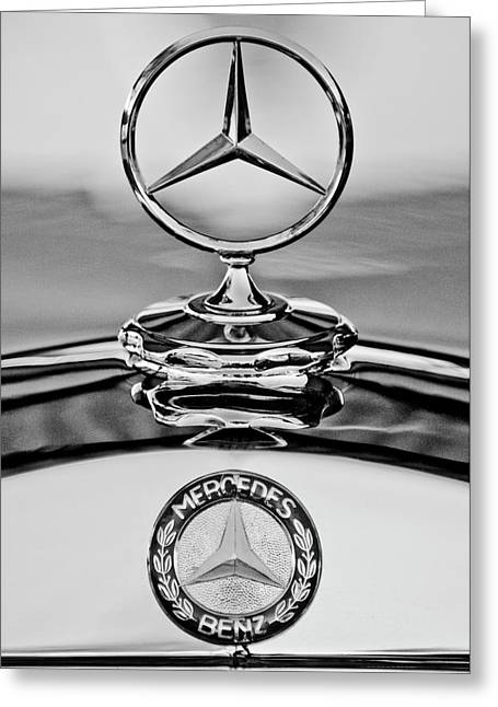Car Mascot Greeting Cards - Mercedes Benz Hood Ornament 2 Greeting Card by Jill Reger