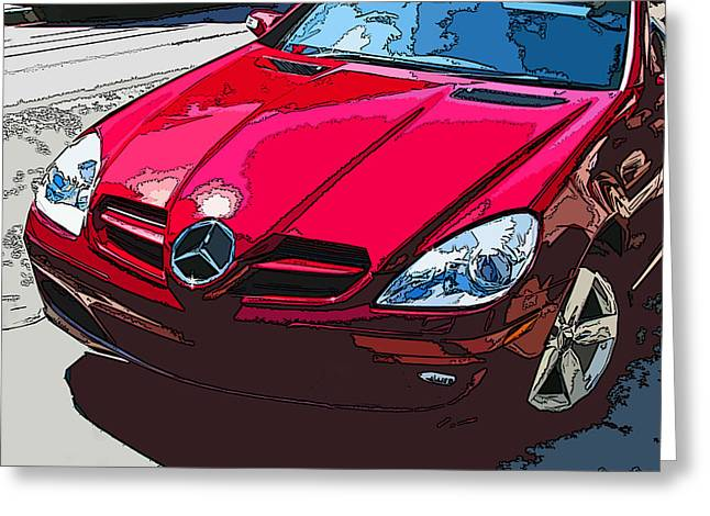 Sheats Greeting Cards - Mercedes Benz SLK Nose Study Greeting Card by Samuel Sheats