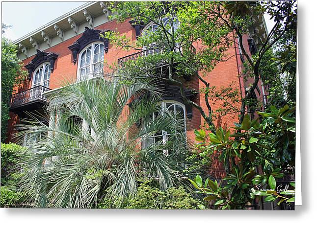 Southern Homes Greeting Cards - Mercer Williams House-Savannah GA Greeting Card by Suzanne Gaff