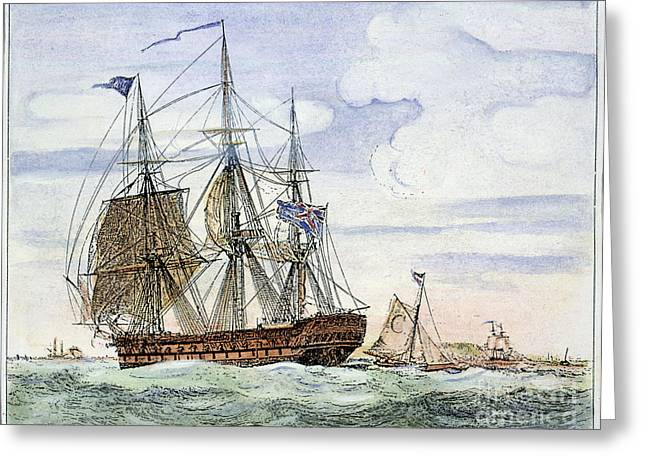Merchant Ship Greeting Cards - Merchant Ship Greeting Card by Granger