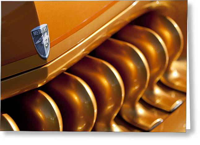 Mercury Hot Rod Greeting Cards - Mercury Hot Rod Grille Greeting Card by Jill Reger