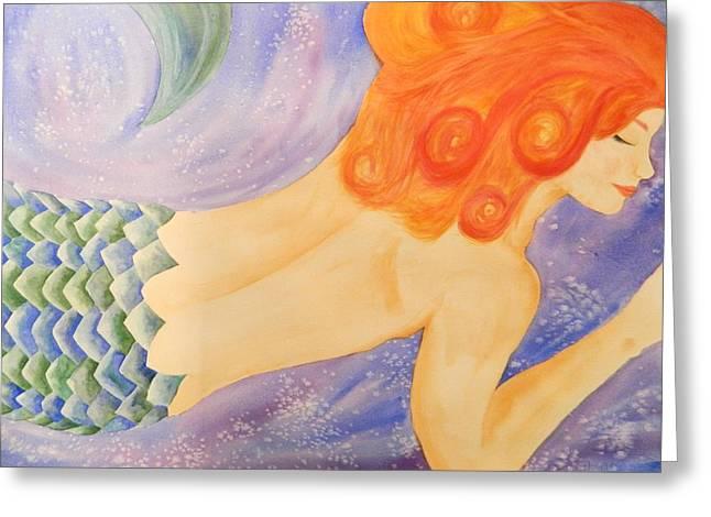 Mermaid Greeting Card by Tara Bennett