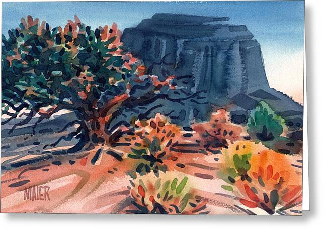 Merrit Greeting Cards - Merrit Butte Greeting Card by Donald Maier