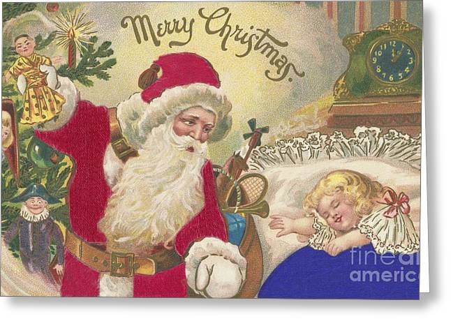 Christmas Eve Greeting Cards - Merry Christmas Greeting Card by American School