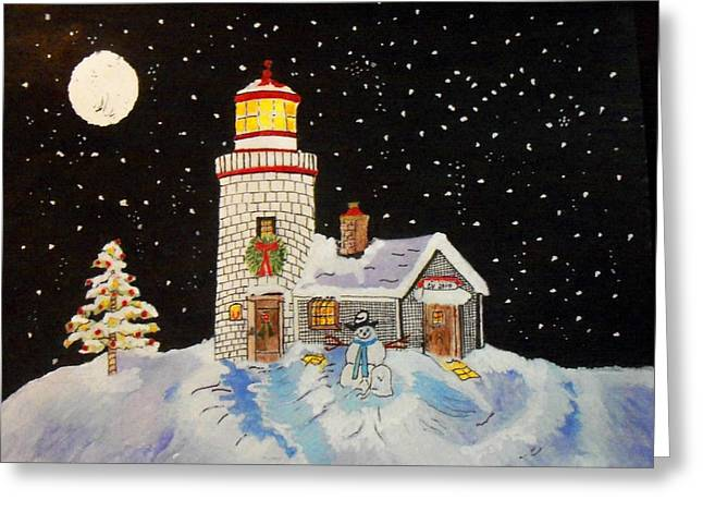 Stary Sky Greeting Cards - Merry Christmas  Greeting Card by Connie Valasco