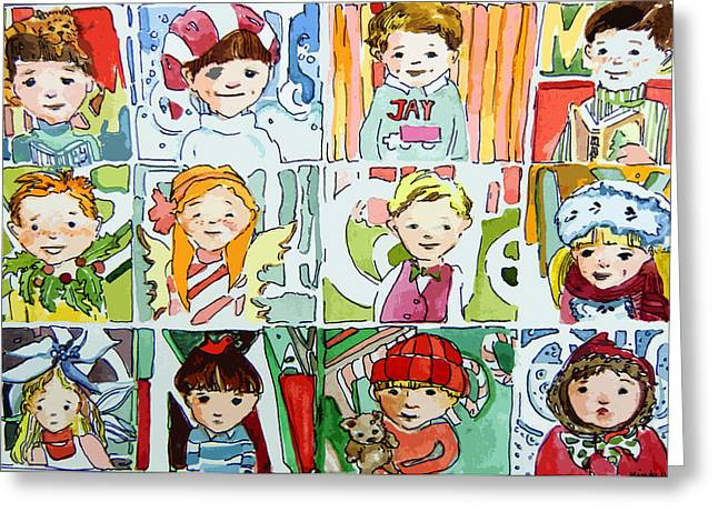 Cousins Greeting Cards - Merry Christmas Cousins Greeting Card by Mindy Newman