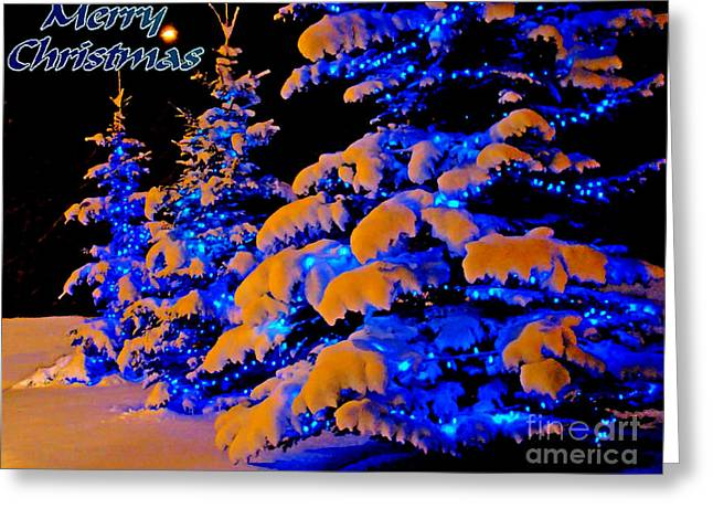 Alberta Greeting Cards Greeting Cards - Merry Christmas Winter Card Greeting Card by Al Bourassa