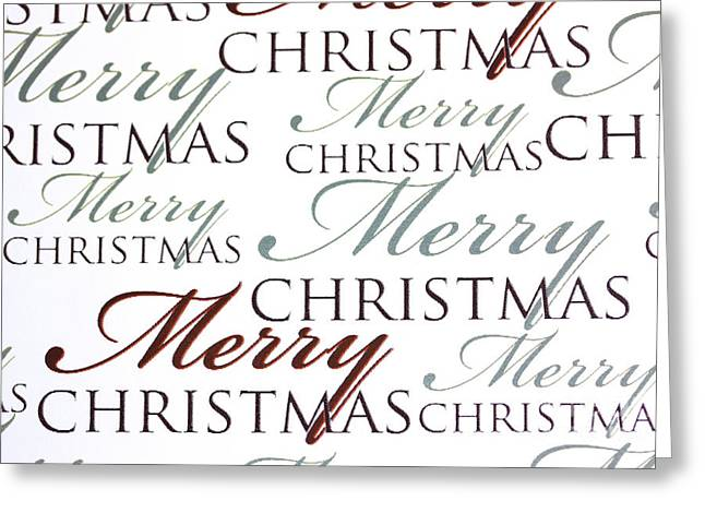 Words Background Greeting Cards - Merry Christmas words Greeting Card by Simon Bratt Photography LRPS