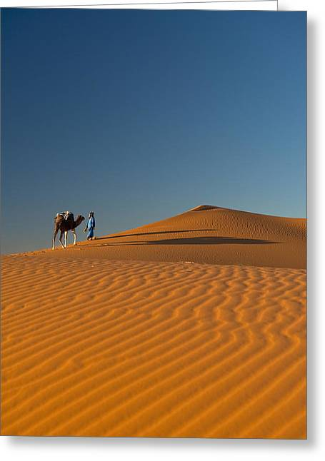 Berber Man Greeting Cards - Merzouga, Morocco Greeting Card by Axiom Photographic