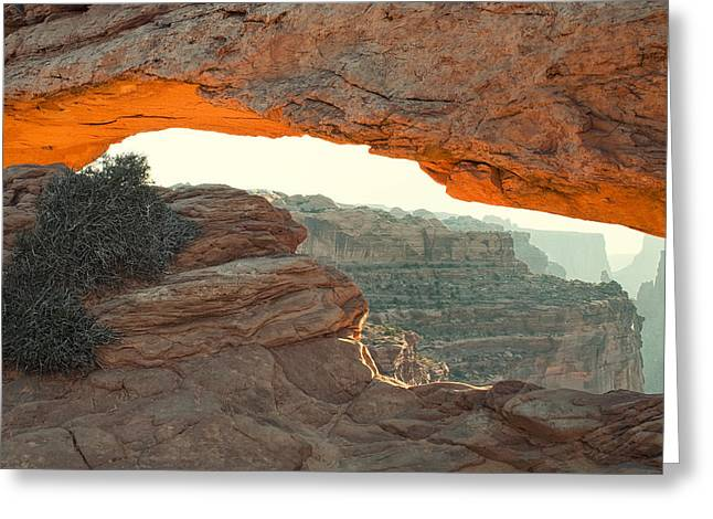 Mesa Greeting Cards - Mesa Arch Greeting Card by Andrew Soundarajan