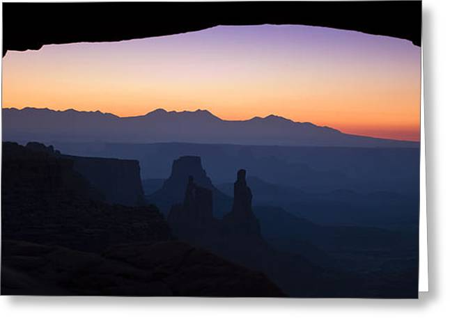 Mesa Dawn Greeting Card by Andrew Soundarajan