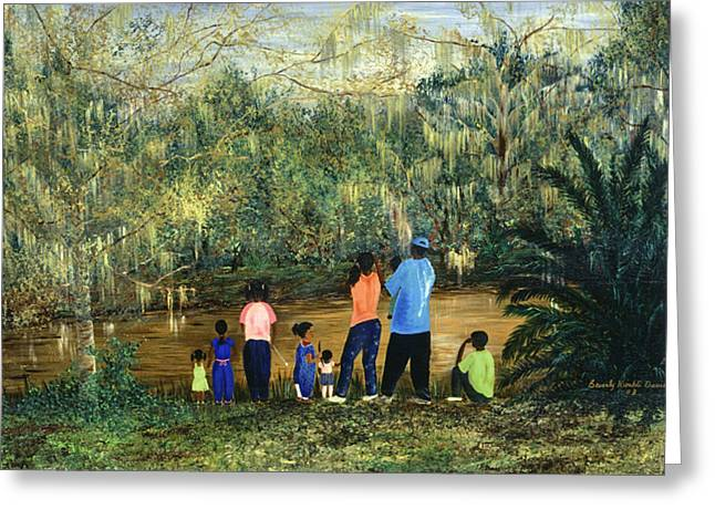 Evacuee Greeting Cards - Mesmerized in City Park NOLA Greeting Card by Beverly Kimble Davis