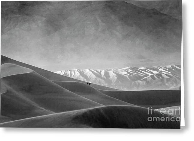 Mountains Of Sand Greeting Cards - Death Valley California Mesquite Dunes 13 Greeting Card by Bob Christopher