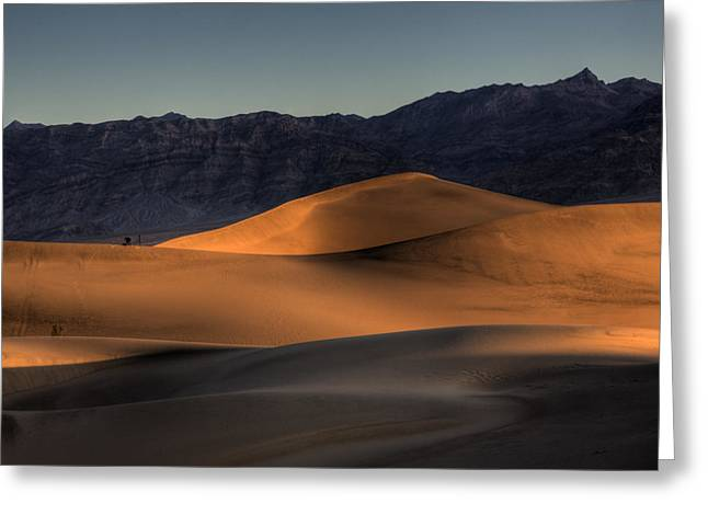 Mesquite Flats Sunsrise Greeting Card by Peter Tellone