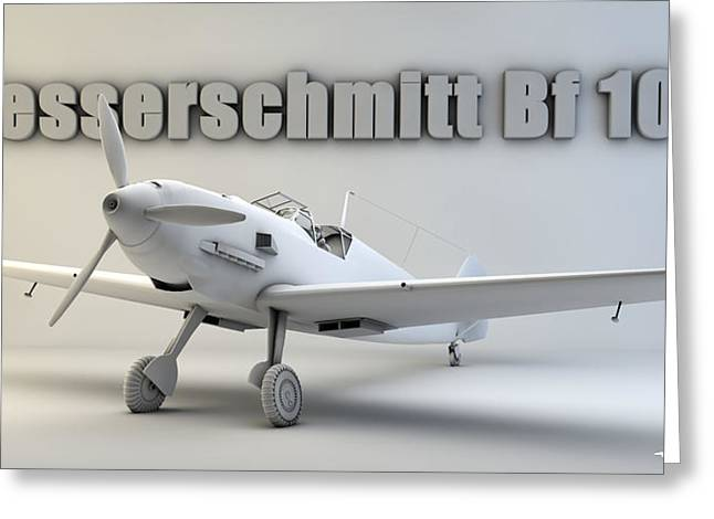 Messerschmitt Bf 109 Greeting Card by Dale Jackson