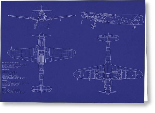 Fighters Greeting Cards - Messerschmitt ME109 Greeting Card by Michael Tompsett