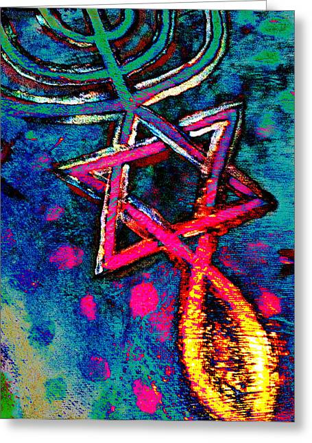 Messianic Greeting Cards - Messianic Colors Greeting Card by Pamela Manning