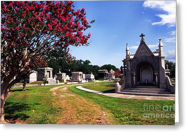 Metairie Greeting Cards - Metairie Cemetery New Orleans Greeting Card by Thomas R Fletcher