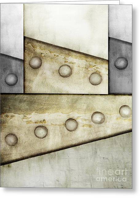 Sheet Metal Greeting Cards - Metal Abstract 3 Greeting Card by Emilio Lovisa