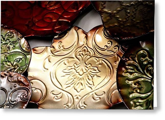 Metal Art Greeting Cards - Metal Art 1 Greeting Card by Karen M Scovill