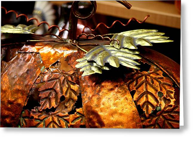 Harvest Deco Photographs Greeting Cards - Metal Art 4 Greeting Card by Karen M Scovill