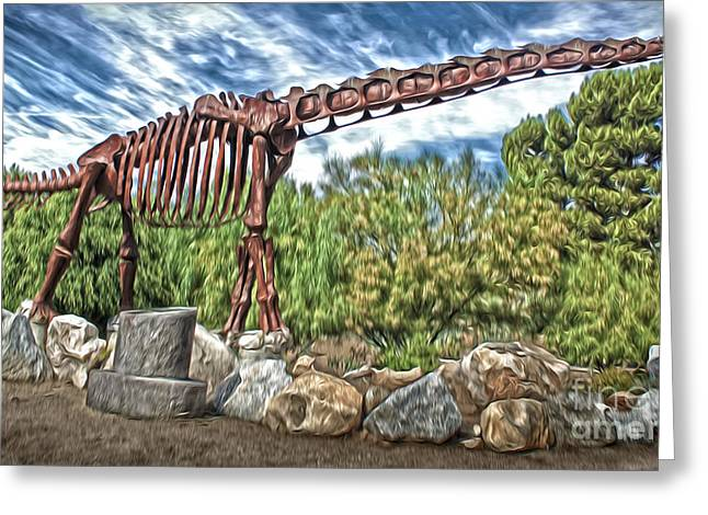 Gregory Dyer Greeting Cards - Metal Brontosaurus Greeting Card by Gregory Dyer