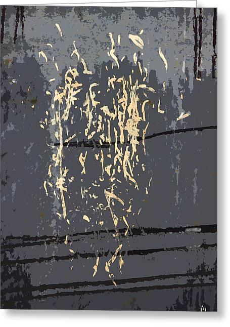 Metal Greeting Cards - Metal Calligraphy Greeting Card by Carol Leigh