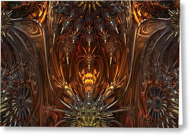 Metal Dragons Greeting Card by Lyle Hatch