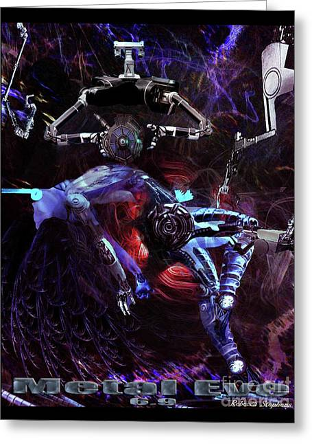 Metal Eve Greeting Card by Rebecca Stephens