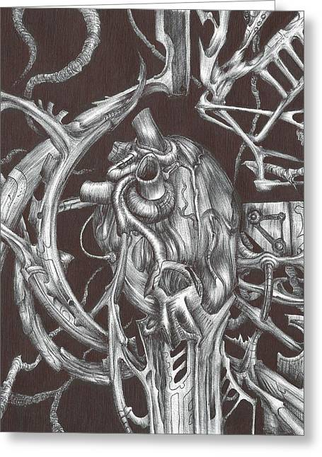 Metal Heart Greeting Card by Anthony McCracken